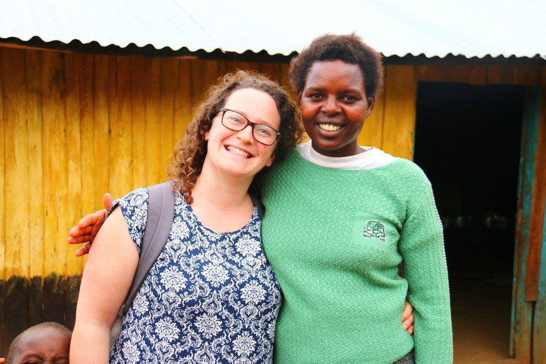blog images/Harambee Nov 16/Karen Lynch with Joyce on trekking route