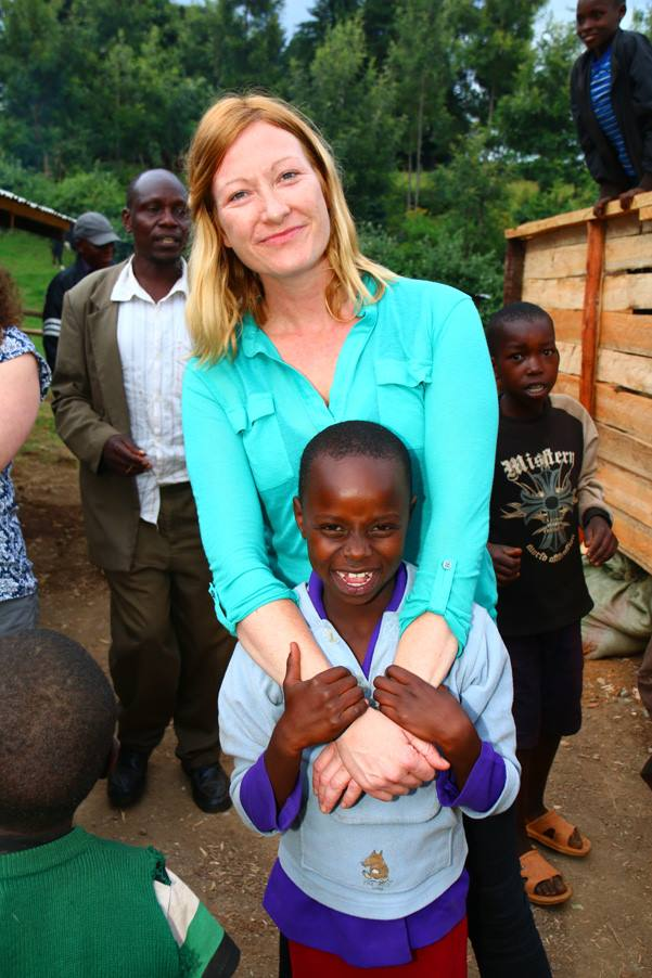 blog images/Harambee Nov 16/Rae making new friends on trekking route