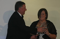 Helen Concannon recieving award