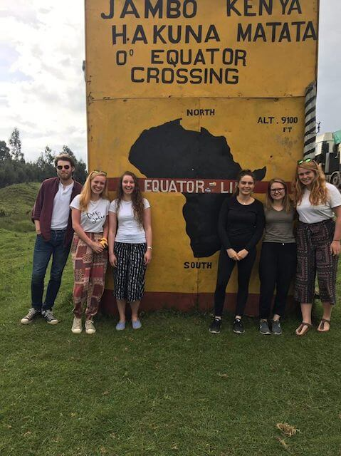 One the ground experiences from our Uni student volunteers/2018 June Harambee team at equator